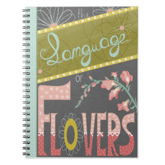 The Language of Flowers journal Spiral Notebooks