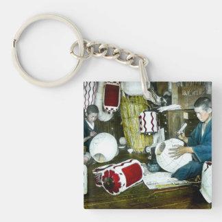 The Lantern Painter Craftsman Vintage Japan No 2 Single-Sided Square Acrylic Key Ring