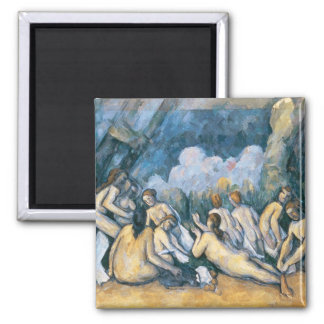 The Large Bathers, c.1900-05 Square Magnet