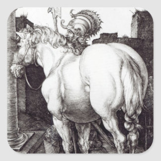 The Large Horse, 1509 Square Sticker