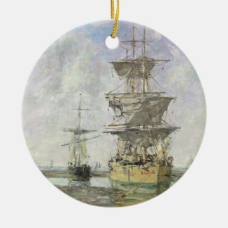 The Large Ship, 1879 (oil on canvas) Christmas Ornament