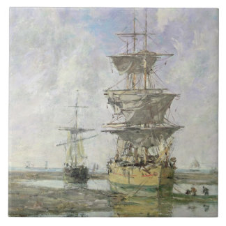 The Large Ship, 1879 (oil on canvas) Tile
