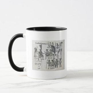 The last Aztec Emperor Cuauhtemoc surrenders Mug