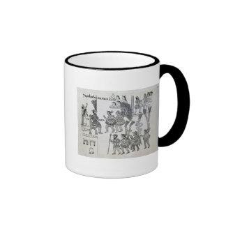 The last Aztec Emperor Cuauhtemoc surrenders Ringer Mug