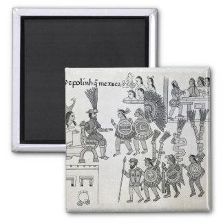 The last Aztec Emperor Cuauhtemoc surrenders Square Magnet