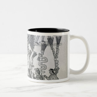 The last Aztec Emperor Cuauhtemoc surrenders Two-Tone Mug