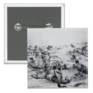 The Last Battle of General Custer 15 Cm Square Badge