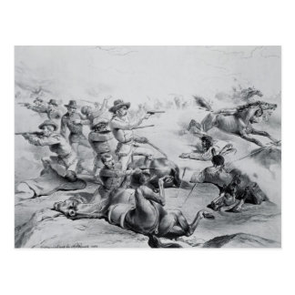 The Last Battle of General Custer Postcard