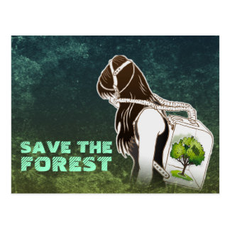The Last Breath on Earth(SAVE THE FOREST) Postcard