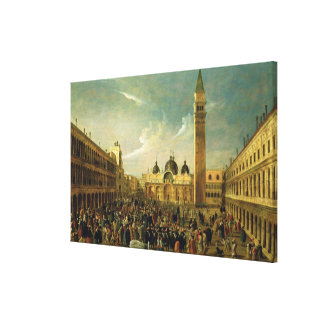 The Last Day of the Carnival, St. Mark's Square, V Canvas Print