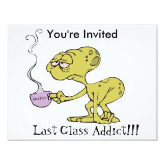 The Last Glass Addict 11 Cm X 14 Cm Invitation Card