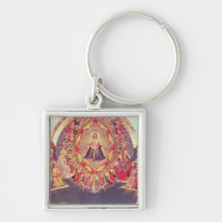 The Last Judgement 2 Silver-Colored Square Key Ring