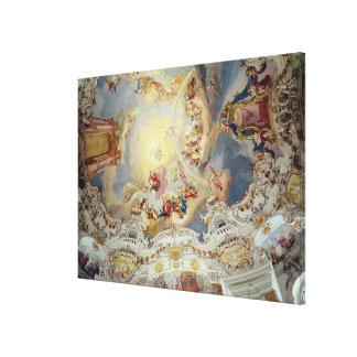 The Last Judgement, ceiling painting Canvas Print