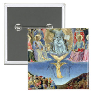 The Last Judgement, central panel from a Triptych 15 Cm Square Badge