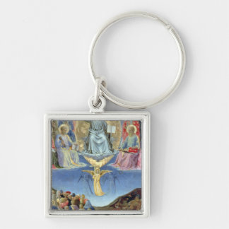The Last Judgement, central panel from a Triptych Silver-Colored Square Key Ring