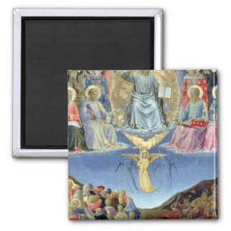 The Last Judgement, central panel from a Triptych Square Magnet