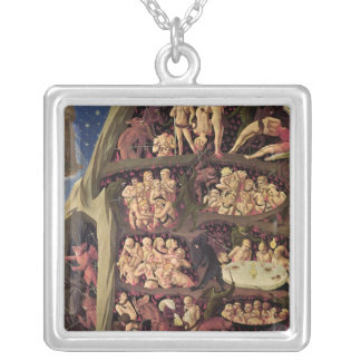 The Last Judgement, detail of Hell, c.1431 Silver Plated Necklace