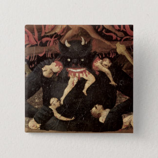 The Last Judgement, detail of Satan devouring 15 Cm Square Badge