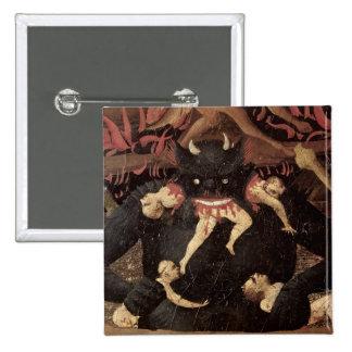 The Last Judgement, detail of Satan devouring 15 Cm Square Badge