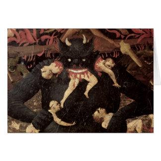 The Last Judgement, detail of Satan devouring Greeting Card