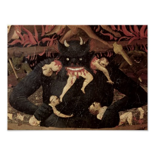 The Last Judgement, detail of Satan devouring Posters