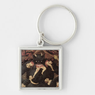 The Last Judgement, detail of Satan devouring Silver-Colored Square Key Ring