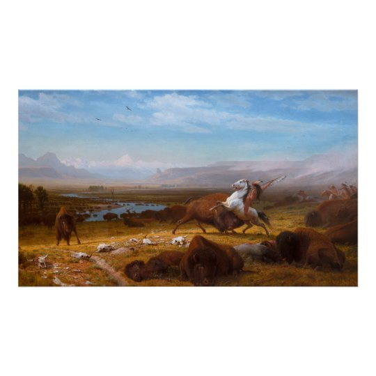 The Last of the Buffalo by Albert Bierstadt Poster