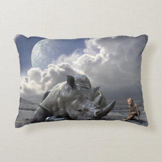 The last of the rhino decorative cushion