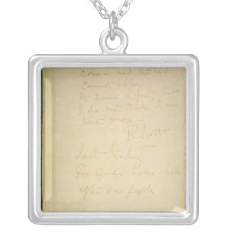 The last page of his diary, Antarctica Silver Plated Necklace