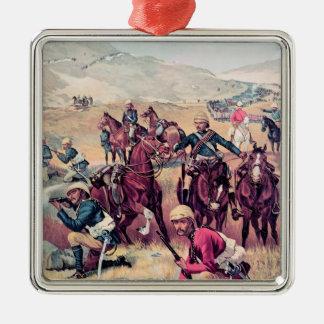 The Last Shot in the Soudan Silver-Colored Square Decoration