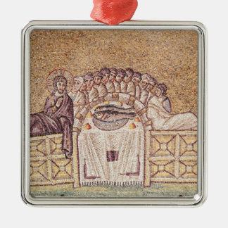 The Last Supper 2 Silver-Colored Square Decoration