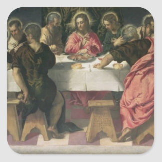The Last Supper 4 Square Sticker