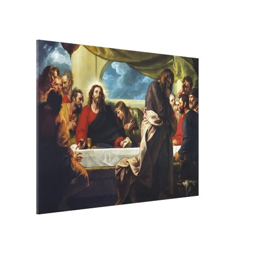 The Last Supper by Benjamin West Stretched Canvas Prints