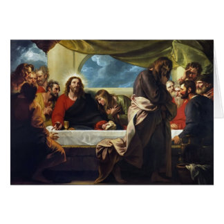 The Last Supper by Benjamin West Greeting Cards