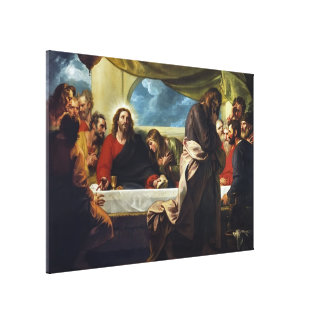 The Last Supper by Benjamin West Gallery Wrap Canvas