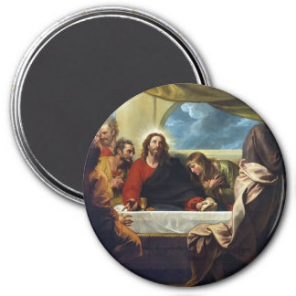The Last Supper by Benjamin West 7.5 Cm Round Magnet