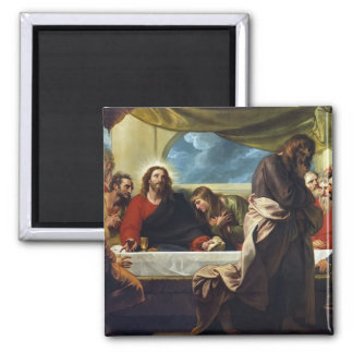 The Last Supper by Benjamin West Square Magnet