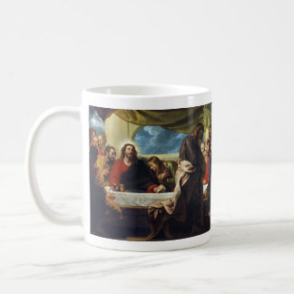 The Last Supper by Benjamin West Basic White Mug