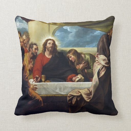 The Last Supper by Benjamin West Pillow