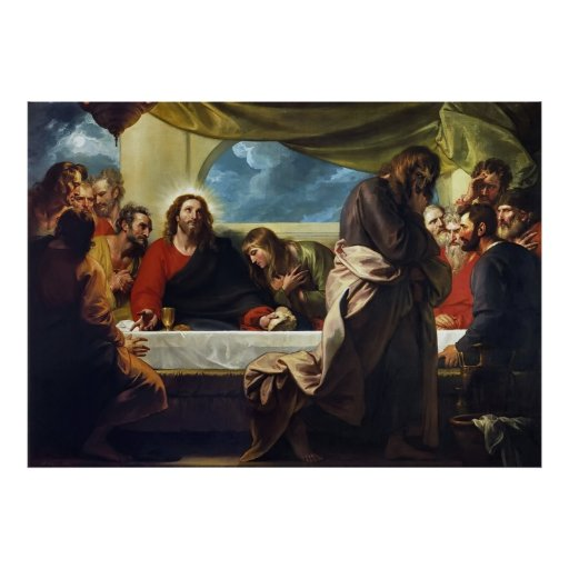 The Last Supper by Benjamin West Print