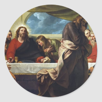 The Last Supper by Benjamin West Sticker