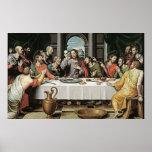 The Last Supper by Juan de Juanes Poster
