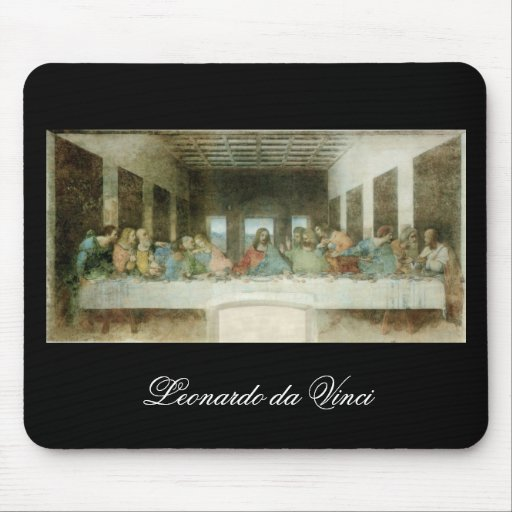 The Last Supper by Leonardo Da Vinci c. 1495-1498 Mousepad