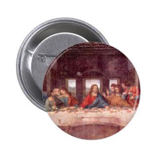 The Last Supper by Leonardo da Vinci, Renaissance 6 Cm Round Badge