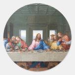 The Last Supper by Leonardo da Vinci Round Sticker