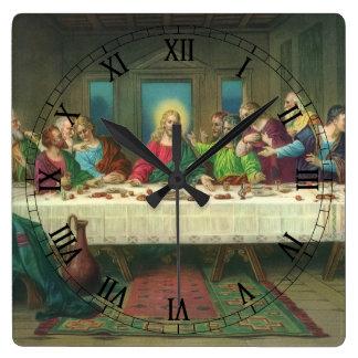 The Last Supper by Leonardo da Vinci Square Wall Clock