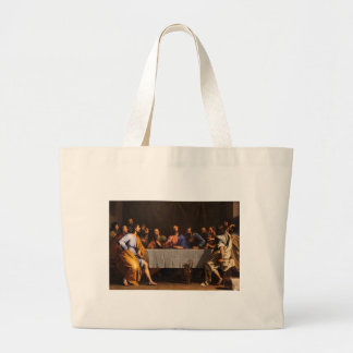 The Last Supper by Philippe de Champaigne (1648) Large Tote Bag