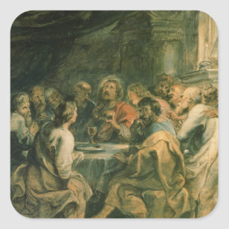 The Last Supper, c.1630-31 Square Sticker