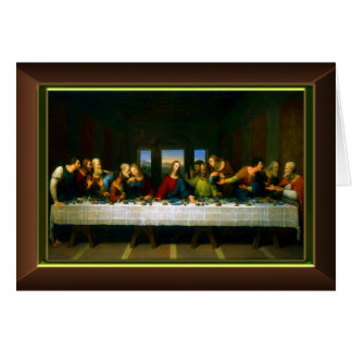 The Last Supper Framed Greeting Card