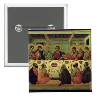 The Last Supper, from the Passion Altarpiece 15 Cm Square Badge